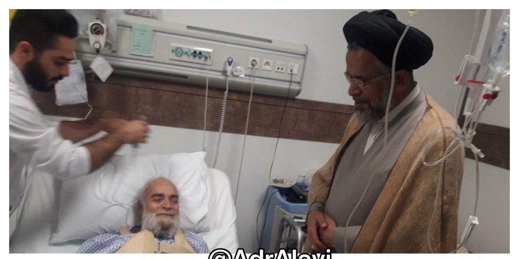 عیادت وزیر اطلاعات از آیه الله فاضل گلپایگانی + عکس