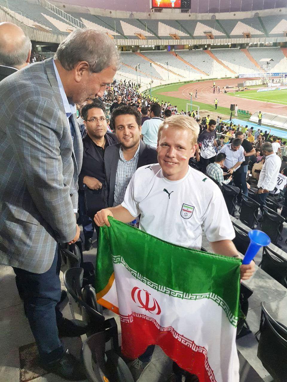 رونمایی از هوادار آلمانی تیم ملی ایران + عکس