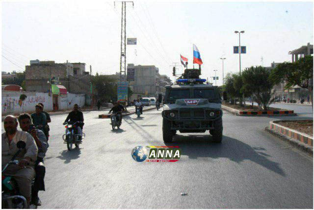گشتزنی پلیس نظامی روسیه در سوریه + عکس