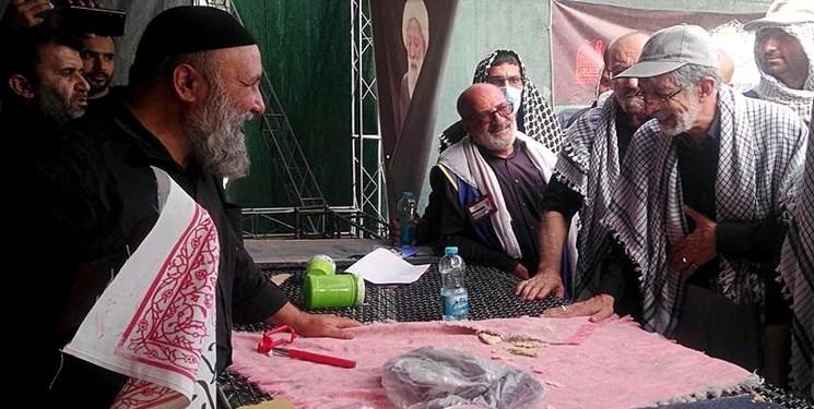 حداد عادل در راهپیمایی اربعین + عکس