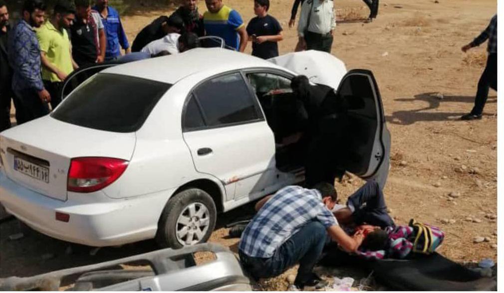 تصادف خونین خودروی نماینده اهواز در مجلس + عکس