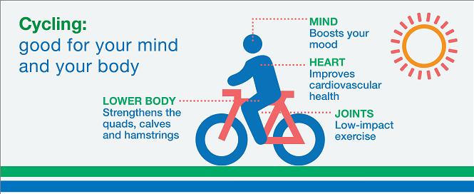 فوايد دوچرخه سواري براي بدن