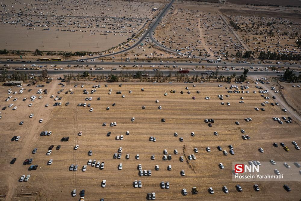 خالی شدن پارکینگ های مرز مهران + عکس