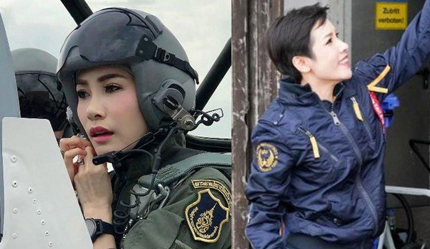 تصاویری از معشوقه رسمی پادشاه تایلند که خلبان جنگنده بود +سرنوشت شوم