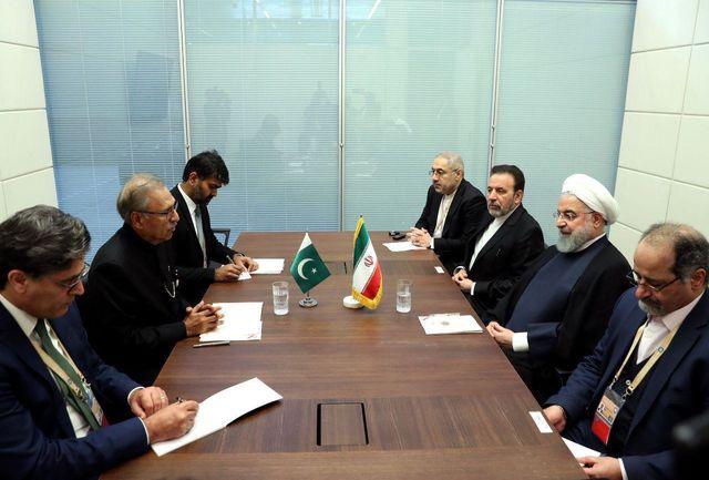 حسرت بزرگ رئیس جمهور پاکستان در دیدار با روحانی