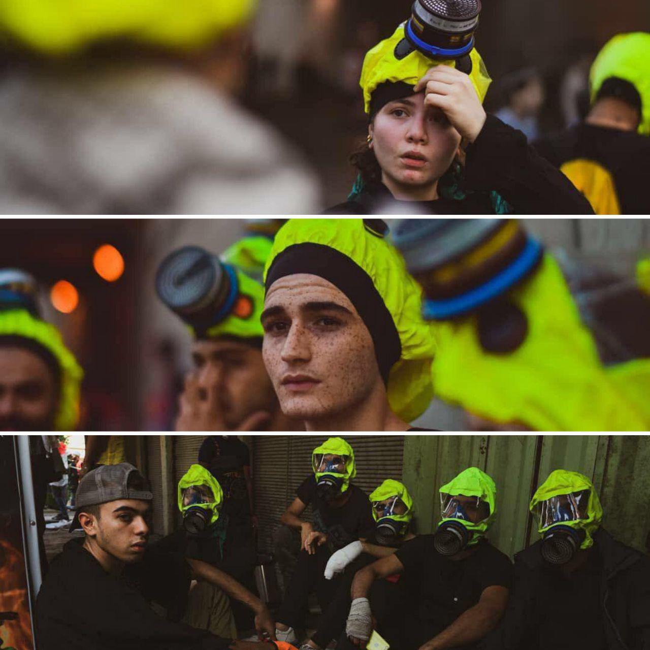 گروه مبارزه با گاز اشک آور در تونل تحریر عراق + عکس