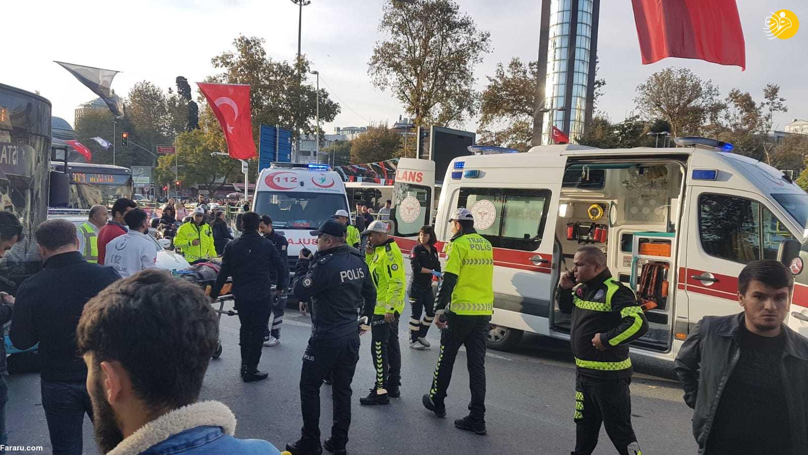 سه ایرانی در بین مجروحان برخورد اتوبوس با مردم در استانبول + عکس