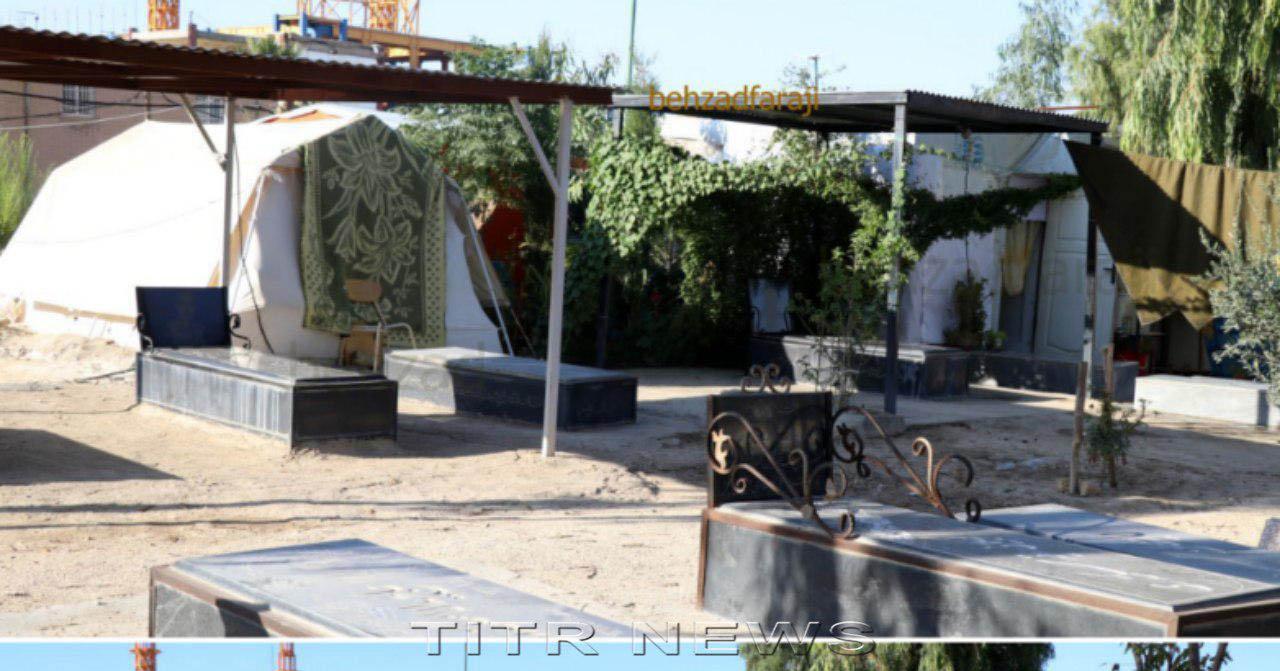 گور نشینی در سرپلذهاب پس از ۲ سال از زلزله + عکس