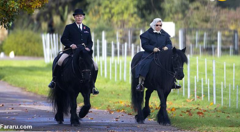 اسب سواری ملکه ۹۳ ساله انگلیس! + عکس