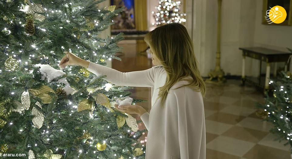 رونمایی ملانیا ترامپ از تزئینات کریسمس کاخ سفید + عکس