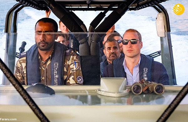 گشتزنی شاهزاده ویلیام در تنگه هرمز + عکس