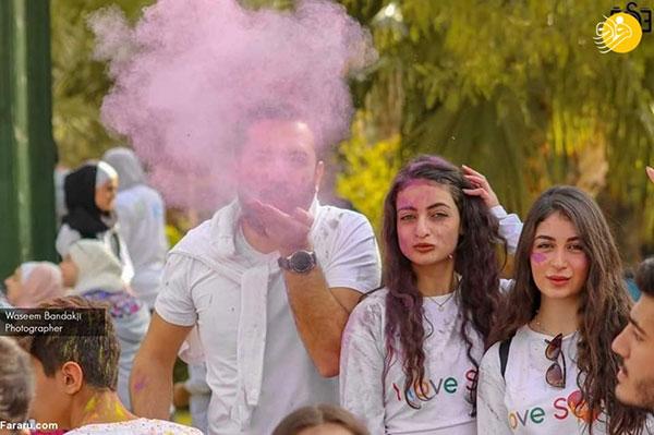جشن رنگ دختران و پسران سوری در دمشق + عکس