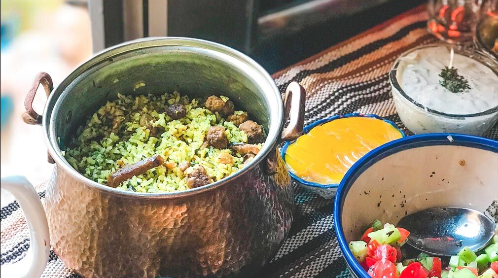 طرز تهیه کلمپلو شیرازی
