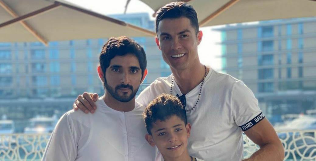 رونالدو در کنار پسر حاکم دبی + عکس