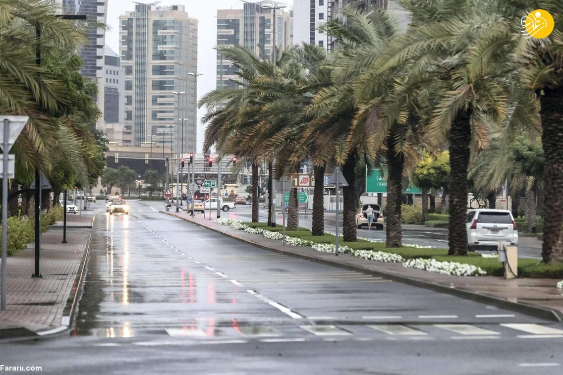 فرودگاه دبی را آب برد! + عکس