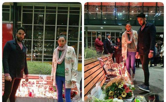 کیمیا علیزاده با رخ تازه در یادبود کشتهشدگان ۷۳۷  +عکس