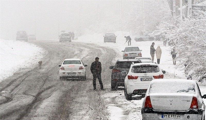 پیشبینی بارش برف در جادههای ۱۰ استان
