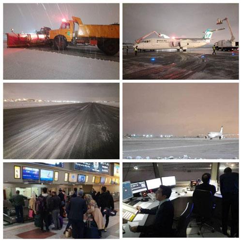 پروازهای فرودگاه مهرآباد برقرار است + عکس