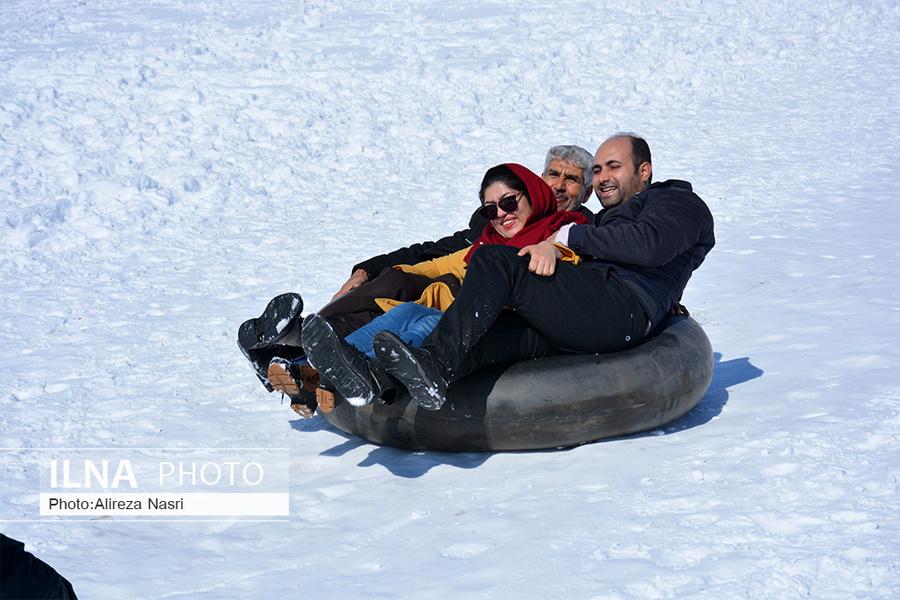 تیوب سواری هیجان انگیز خانوادگی قزوینی ها + عکس
