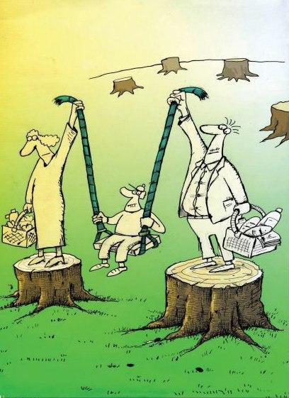کاریکاتور/ مراقب طبیعت باشیم ...