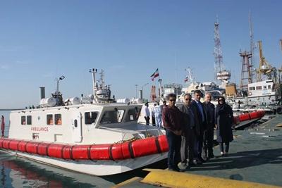 بهره برداری از سه فروند آمبولانس دریایی پیشرفته با مشارکت بانک رفاه