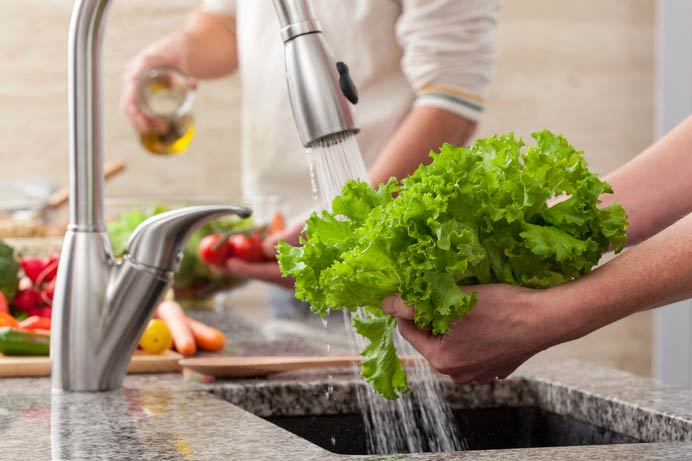 اصول صحیح شستشوی سبزیجات