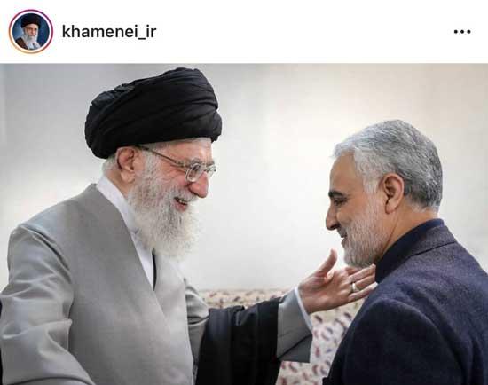 تصویر اینستاگرام رهبری درباره سردار سلیمانی + عکس