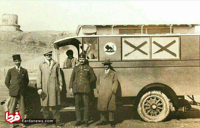 اولین آمبولانس در ایران سال ۱۳۰۶ + عکس