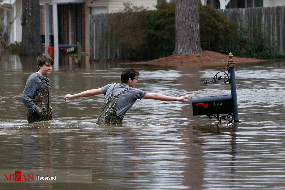 غرق شدن ایالت می سی سی پی آمریکا + عکس