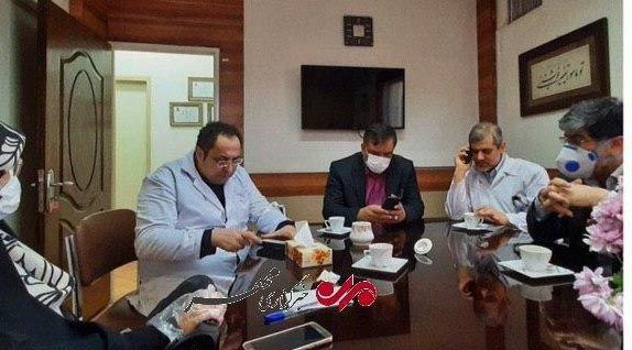 دو نماینده پزشک منتخب در بیمارستان بیماران مبتلا به کرونا + عکس