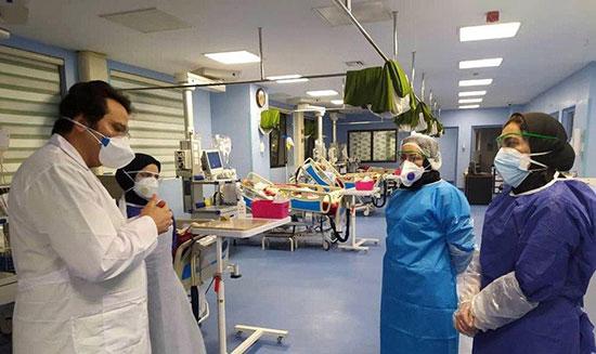 بخش بیماران کرونایی در بیمارستان فرقانی قم + عکس