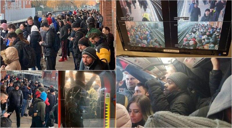 شلوغی مترو لندن در سایه کرونا + عکس