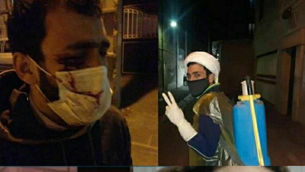 حمله جوان مزاحم مست به طلبه جهادگر! + عکس