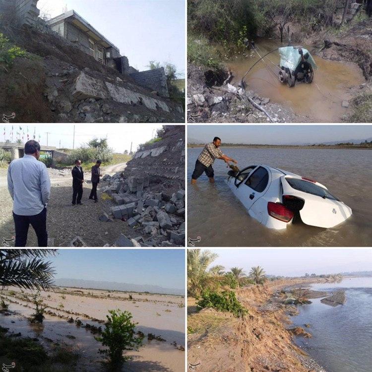 خسارتهای سیل در رودان هرمزگان + عکس