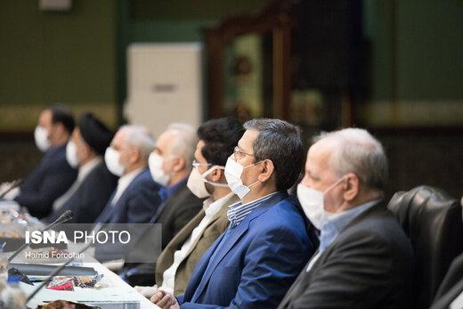 هیات وزیران و رییس جمهور با ماسک و دستکش در سعدآباد+ عکس