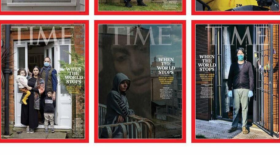 عکس قرنطینه عکاس زن ایرانی روی مجله تایم! + عکس