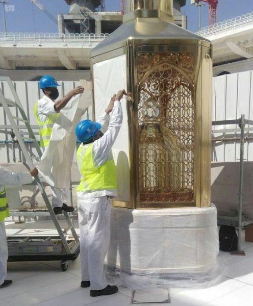 تعمیر کامل مقام ابراهیم آغاز شد + عکس