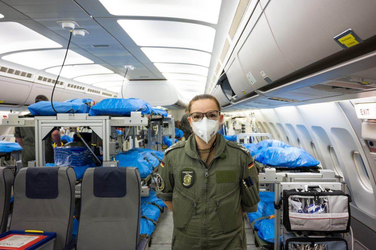 هواپیمای فوق پیشرفته آلمان برای انتقال بیماران کرونایی + عکس