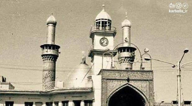 تصویر قدیمی از ورودی بابالقبله حرم حضرت عباس (ع) + عکس