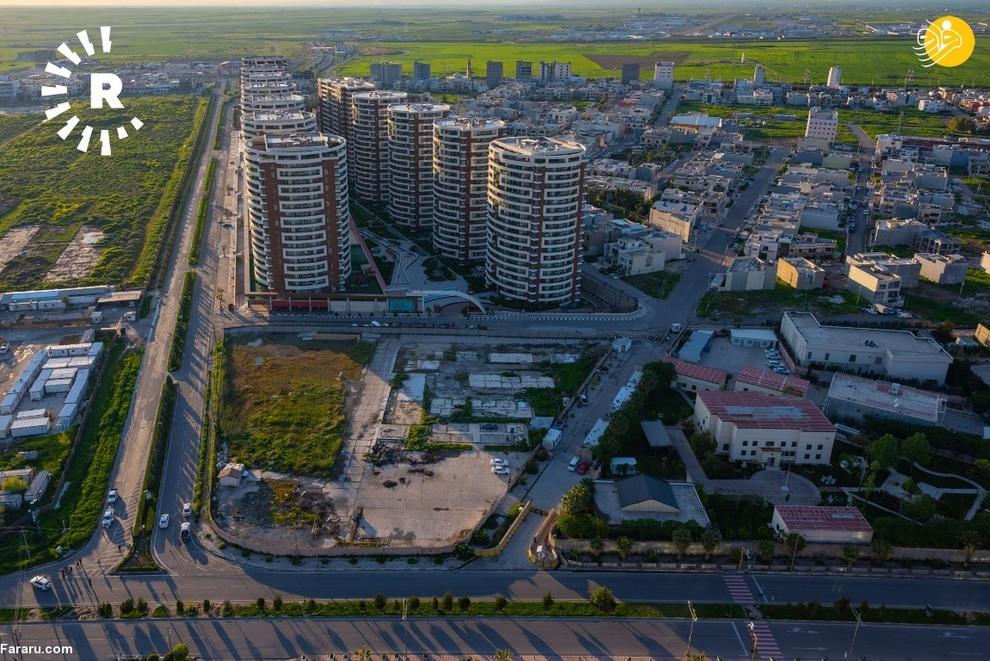 تصاویر هوایی از اربیل پس از مقررات منع تردد + عکس