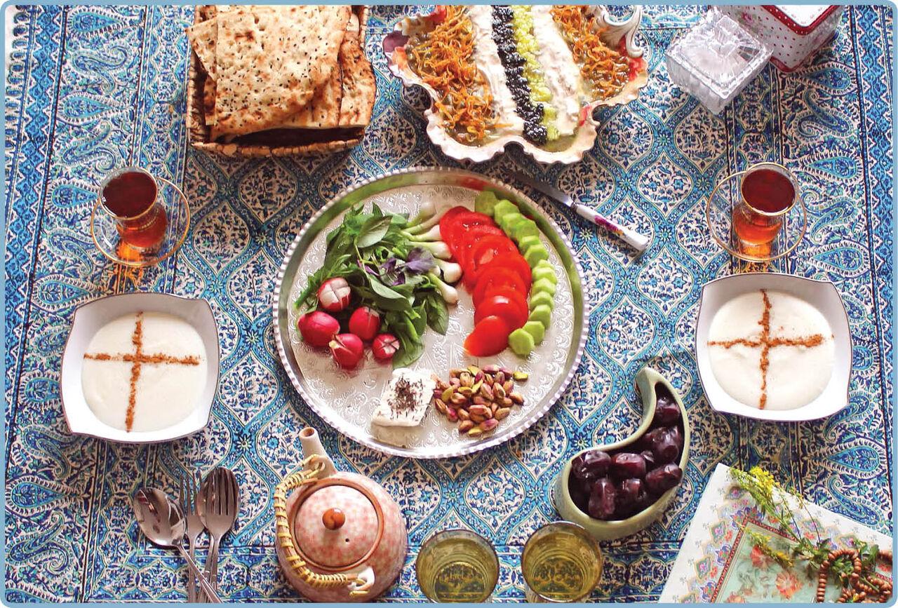 نکات طلایی  درباره مواد غذایی مصرفی در وعده سحر و افطار