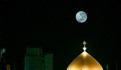 صحنه ویژه از ماه کامل شب نیمه ماه مبارک رمضان + عکس