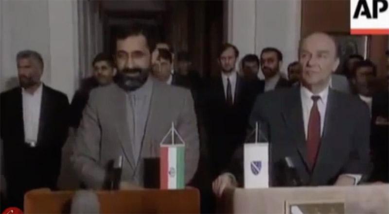 افتتاح سفارت ایران در بوسنی و هرزگوین در سال ۱۳۷۳ + فیلم