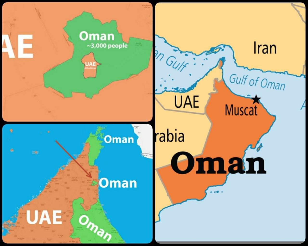 تعجب آورترین مرزی که بین دو کشور عمان و امارات است! + عکس
