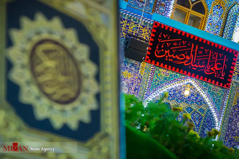 سیاه پوش شدن حرم مطهر امام حسین (ع)+ عکس