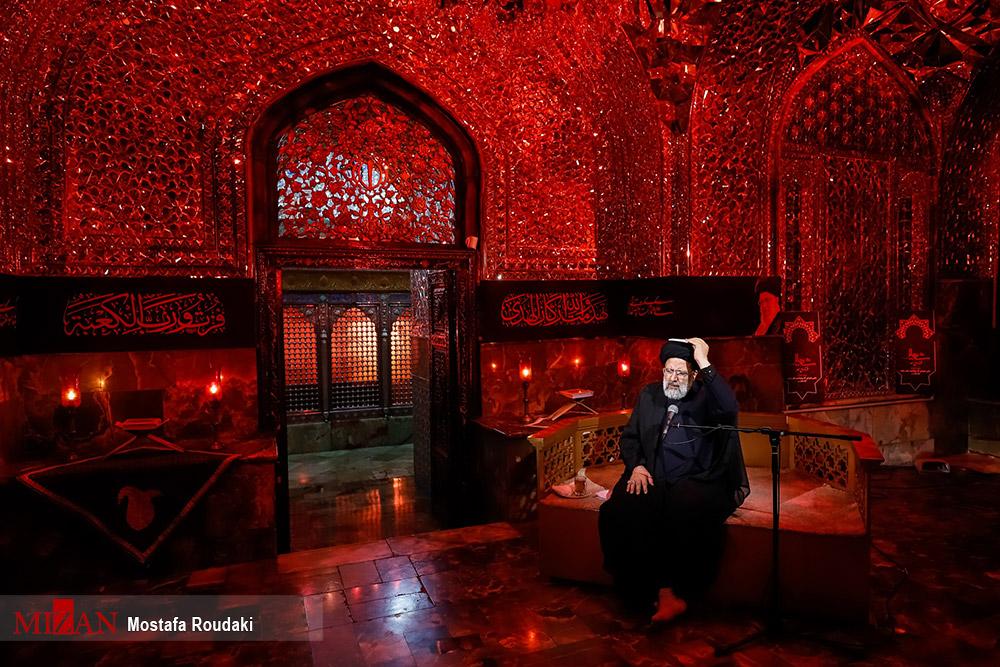 آیت الله رئیسی در مراسم احیاء در امامزاده صالح (ع) تهران + عکس