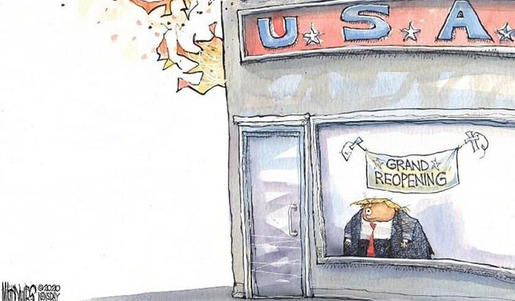 ترامپ مغازهاش را بازگشایی کرد! + عکس