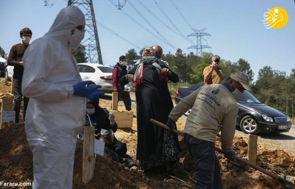 نحوه دفن قربانیان کرونا در ترکیه + عکس