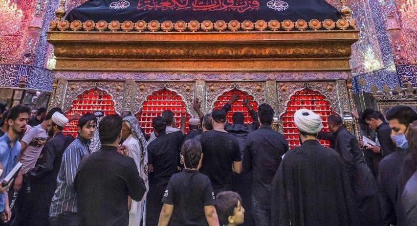 ضریح مطهر حضرت علی(ع) در شب ۲۳ رمضان + عکس