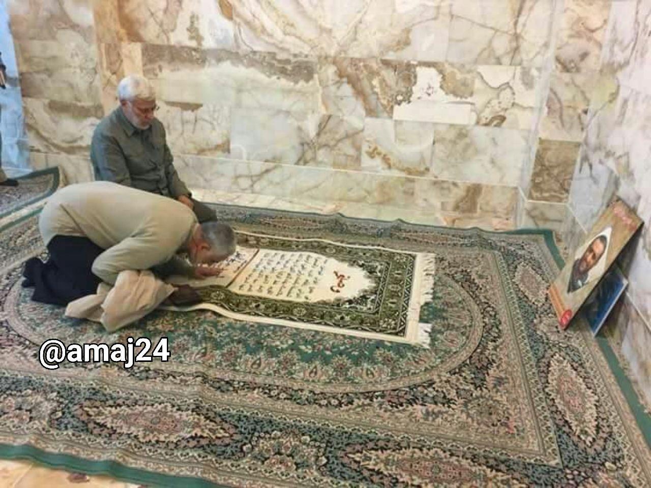 تصویر کمتر دیده شده از حاج قاسم سلیمانی و شهید ابومهدی المهندس